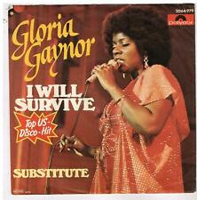 """Gloria GAYNOR    I will survive              7""""  45 tours SP"""