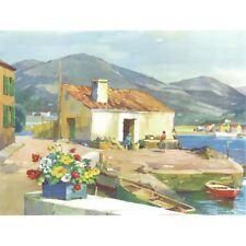 Little Harbour, Majorca - F Sherwin Print