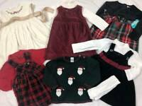 10 Pc. Baby Girls Holiday Clothes Lot 18-24m CHRISTMAS DRESSES Gymboree Old Navy