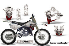Yamaha YZ250 Graphic Kit Wrap + Number Plate Decals Stickers 1991-1992 BONES WHT