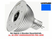 3x LED LENSER Zweibrüder Leflector Blaue Leuchte Lampe Licht 12V 1,3W MR16 Spot