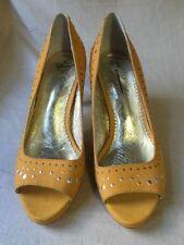 Leather Open Toe Medium (B, M) Width Heels Women's US Size 9