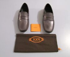 New Men Tod's Driving  Leather With Logo Shoes/Sz 9.5 US; 8.5 Tods/Made In Italy