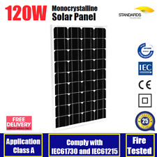 12V 120W MONO SOLAR PANEL HOME CARAVAN CAMPING POWER BATTERY CHARGING 120 WATT