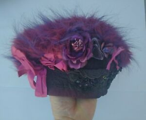 """Handmade Hat by Petrushka of San Francisco """"The purple Mountains Majesty"""""""