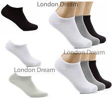 Mens Women Ladies Girls Cotton Plain Trainer Liner Ankle School Uniform Socks