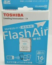 TOSHIBA FlashAir Wireless LAN-abilitata 16GB Scheda SDHC Classe 10 Giappone SD-WE016G