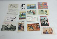 Lot Of 16 Vintage Comic Postcards Dirty Jokes Comic Scenes