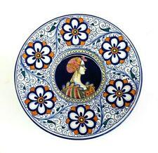 Faenza Cacf Wall Plaque Decorative Portrait Plate