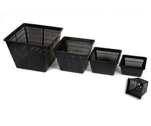 Pond Plastic Plant Baskets - SQUARE Planting Pots Garden Lily Margins 3,6 or 12