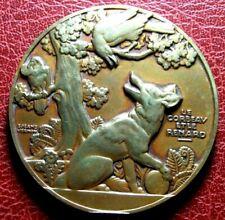Art Deco Fables de La Fontaine The Crow & fox medal by VERNON