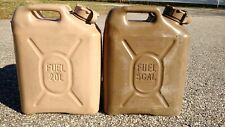 Set of 2, Military 5 gallon SCEPTER FUEL JERRY CAN , OIL DIESEL FUEL 20 liter