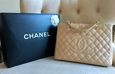 CHANEL Beige Caviar GST GHW Womens Handbag Tote 100% Authentic Great Condition