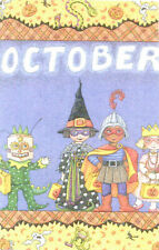 October Trick Or Treaters-Handcrafted Halloween Magnet-w/Mary Engelbreit art