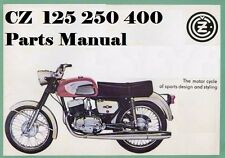 CZ MOTORCYCLE PARTS MANUAL for 125 250 & 400 980.4 981.1 984.1 984.3 Parts List