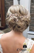 Rose gold blush dusky pink ivory Bridal hair vine, head piece, hairpiece wedding