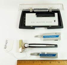 Vintage SCHICK DIAL 1-8 Adjustable Injector Razor & Case