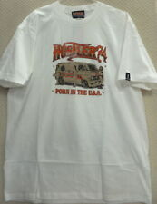 "Hustler Men's T-Shirt ""Porn in The USA"" --Size L, White"