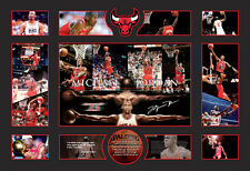 NEW!! MICHAEL JORDAN 110x80CM SIGNED FRAMED LIMITED EDITION 499 WITH COA
