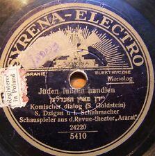 jewish yiddish 78-syrena electro-dzigan & shumacher-in schwitz bod-poland 1930's