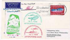 1958. Luxemburgo a Alemania. Sobre con sello Luxemburgo y matasellos aviones