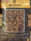 """BROWNING Best Reversible Throw Camo  Micromink to Sherpa 50"""" x 60"""" BASS PRO"""