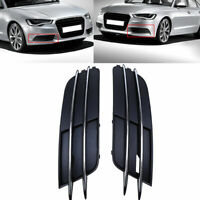 Front Lower Bumper Fog Lamp Grilles Cover fit for 11-15 Audi A6 C7 Pre-facelift