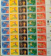 Olympic Stamps, Full Sheet, 1991, New, Gum Excellent, Free Shipping!