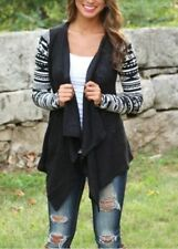 UK Women Boho Long Sleeve Cardigan Waterfall Jumpers Sweater Coat Tops Plus Size