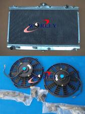 Aluminum Radiator & FANS FOR Mazda Miata MX5 MT 1998-2005 98 99 00 01 02 03