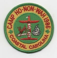 1986 Camp Ho-Non-Wah Patch (Coastal Carolina Council), Mint!