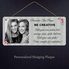 Personalised Flower Plaque - Custom Gift Metal Sign Stripes Celebration Present