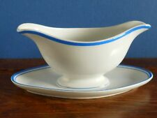 A Villeroy and Boch Saxony Blue and White Sauce boat [imperfect]