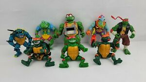 Vintage TMNT Ninja Turtles Figures Lot Of 8 Slash Troma Toxic Crusader Mike Frog