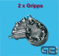 2 x Grippa Blei mit Öse, Angelblei, Grundblei, Karpfenblei, Strömungsblei.
