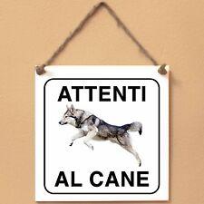 Cane lupo di Saarloos 1 Attenti al cane Targa piastrella cartello