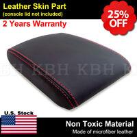 Armrest Console Lid Vinyl Cover Skin for Subaru Impreza WRX STI 08-16 Red Stitch