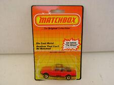 1983 MATCHBOX SUPERFAST MB 39 RED BMW 323i CABRIOLET NEW ON DAMAGED CARD