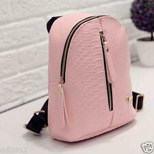 New Women Girls PU Leather Backpack Travel Handbag Rucksack Shoulder School Bag