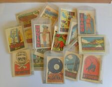 Old Vintage Travel Souvenir Car Luggage Decal Sticker Junk Drawer Collection Lot