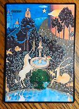 Magic the Gathering Basic Land Mtg Altered Art The Last Unicorn Forest
