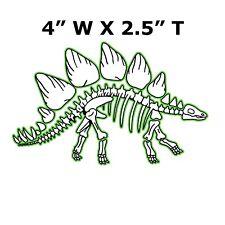 Stegosaurus Dinosaur Skeleton Car Truck Window Sticker Decal Fossils