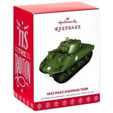 2017 Hallmark 1943 M4A3 SHERMAN TANK Military WWII die-cast metal ORNAMENT