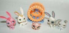 LITTLEST PET SHOP Lot Hamster 1341 wheel Bunnies #500 #322 #211 #18 Accesories
