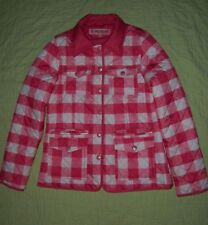 Girls Qulted Jacket*Size L 14*Pink Gingham*White Checked*Urban Republic