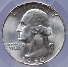 1950 WASHINGTON QUARTER PCGS MS 66 ALSO NOT NOTED BUT DOUBLED DIE REVERSE FS-801