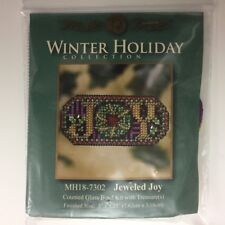 Mill Hill Winter Holiday Jeweled Joy Cross Stitch Beaded Kit Ornament w/Treasur