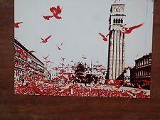 Vecchia foto cartolina d epoca del Festival Nazionale de L Unità campanile per