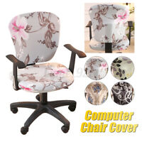 Office Chair Cover Elastic Computer Chair Cover Stretch Arm Chair Seat Cover AU!