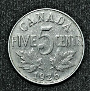 1926 FAR 6 Canada 5 cents